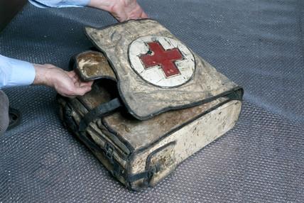 A World War 1 medical pack, German, 1915-1918.