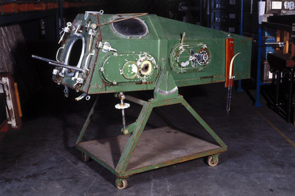 Iron lung made in the 1950s.