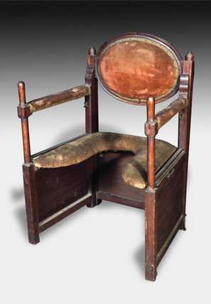 A collapsible parturition chair, 1701-1830.
