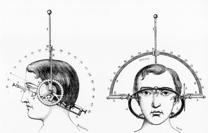 Adrien Antelme's cephalometer, 1883.