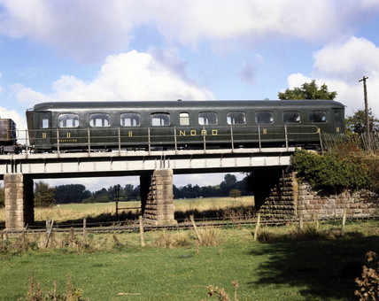 Nord carriage, 1911, on bridge (Nene Valley