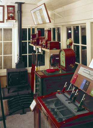 Great Eastern Railway signal box, c 1910.