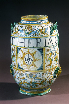 Pharmacy jar, Italian, 1641.