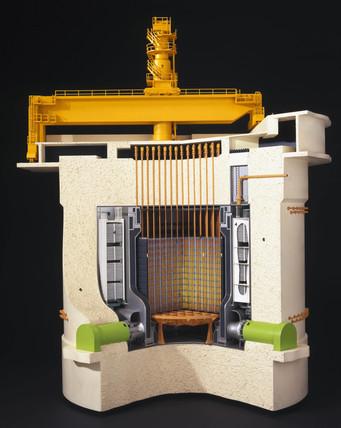 Oldbury Magnox reactor, 1968.