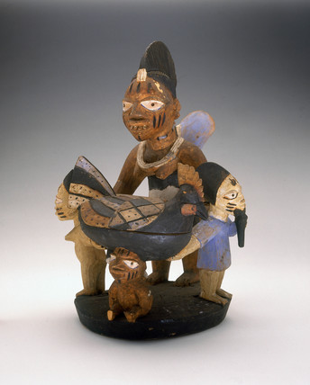 Yoruba ritual bowl, Nigeria, c 1880-1920