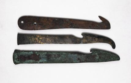 Three knives, Egyptian, 2000-100 BC.