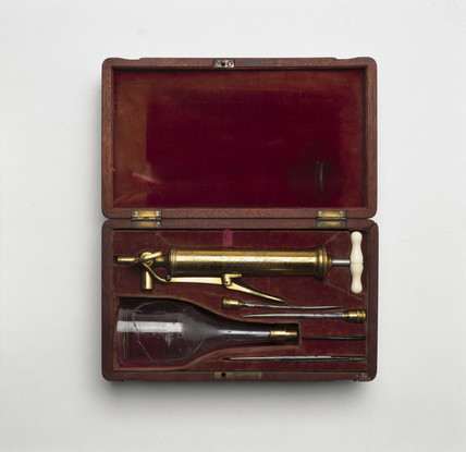 Blundell's blood transfusion apparatus, 19th century.