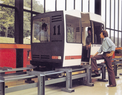 One ton, four pasenger maglev vehicle with track.