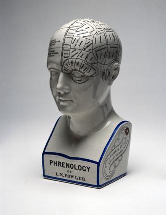 Fowler's phrenological head, English, 1860-1896.