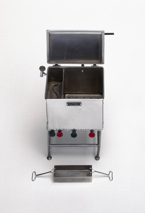 Model hospital sterilizer or autoclave, English, c 1935.