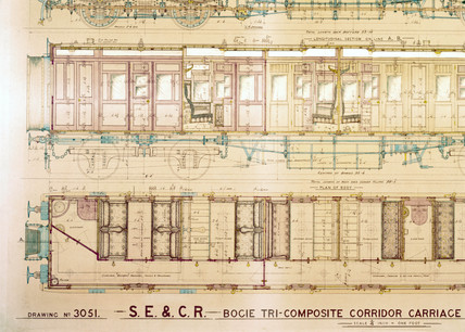Design for a tri-composite brake carriage, 1910.