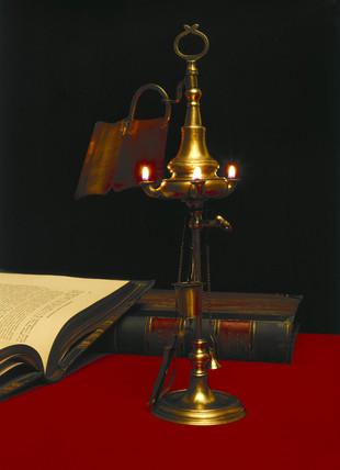 Dutch 3-nozzle Oil Lamp, 1800-1820.
