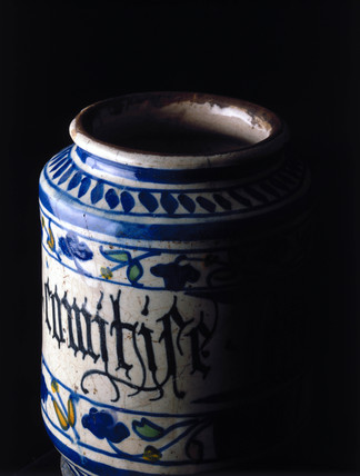 Pharmacy jar, Italian, 1530-1540.