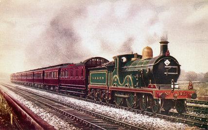South Eastern & Chatham Railway continental boat train, c 1903.