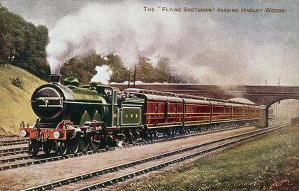 'The 'Flying Scotsman' pasing Hadley Woods, c 1906.
