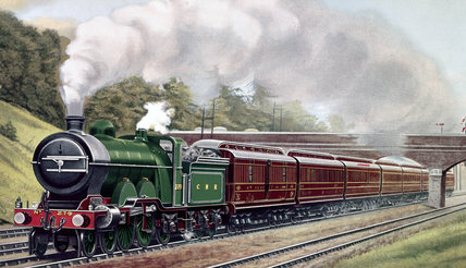 Great Northern Railway East Coast Expres, c 1906.