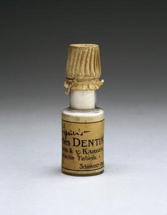 Bottle of Dentin toothpowder, 1901-1940.