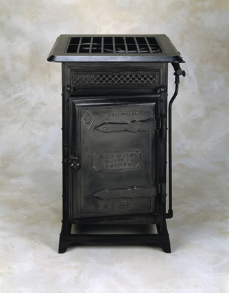 'Black Beauty' gas cooker, c 1878.
