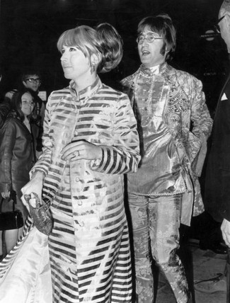 John Lennon and his first wife Cynthia, 19 October 1967.