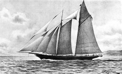 Lord Kelvin's sailing yacht 'Lalla Rookh', c 1860-1900.