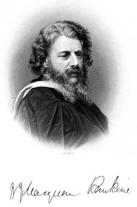 William John MacQuorn Rankine, Scottish civil engineer, c 1860-1869.