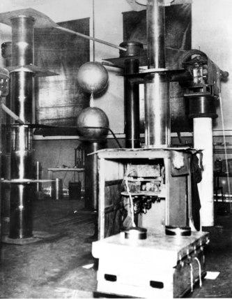 Cockcroft Walton accelerator, 1930s.