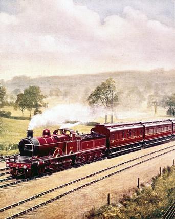 Midland Railway expres train, c 1903.