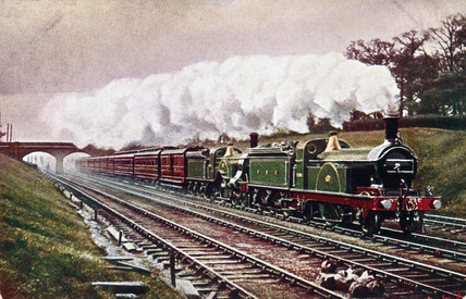 Great Northern Railway expres train, c 1900.