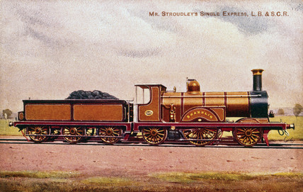 'Shanklin' 2-2-2 expres pasenger locomotive no 332, 1881.