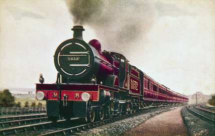 Midland Railway expres train, c 1908.