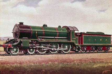London & South Western Railway 4-6-0 traffic locomotive No 486, 1914.
