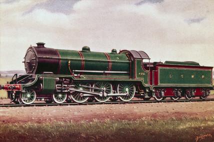 London & South Western Railway 4-6-0 traffic locomotive No 486, 1914.