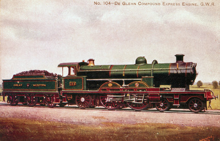 Midland Railway 4-2-2 locomotive heads a Le