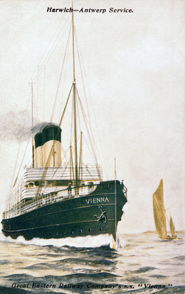 Great Eastern Railway steamship SS 'Vienna', 1910.