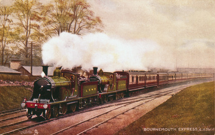'Britannia' British Railways standard traffic locomotive, 1951.