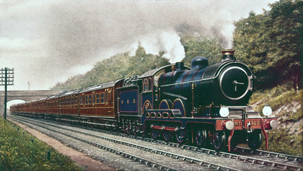 North British Railway 4-4-2 locomotive, c 1910.