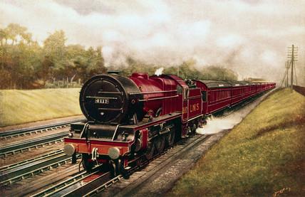 'Welsh Guardsman' London Midland and Scottish Railway locomotive, c 1925
