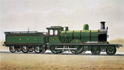 Great North of Scotland Railway expres locomotive no 115, c 1900.