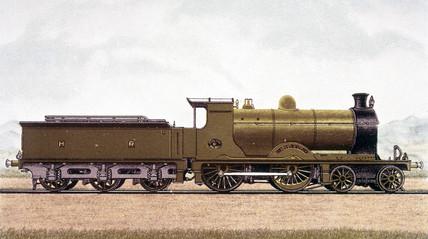 Highland Railway expres locomotive, no 61.