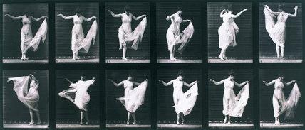 Draped woman dancing, c 1872-1885
