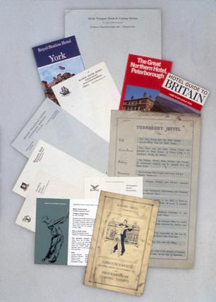 Various railway hotel brochures, ranging fr
