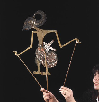 Javanese shadow puppet, early 20th century.