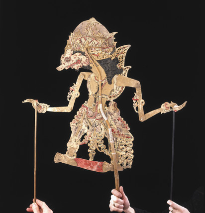 Javanese shadow puppet. Shadow plays, which