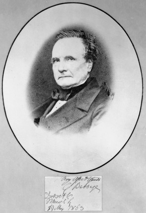 Charles Babbage, British mathematician and computing pioneer, 1863.