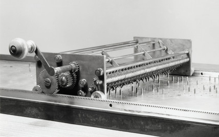 Phillips's binary scale calculating machine, 1936.