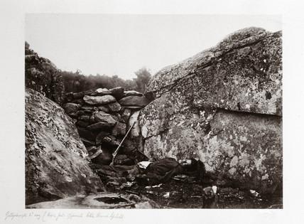 Home of a rebel sharpshooter, Gettysburg, Pennsylvania, July, 1863.