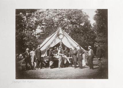 Gettysburg field hospital, Pennsylvania, USA, July, 1863.