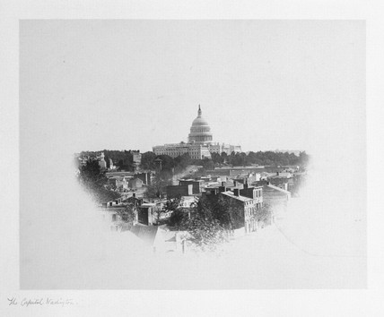 The Capitol, Washington DC, USA, c 1863.