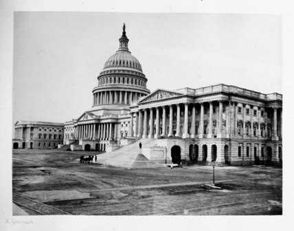The Capitol, Washington DC, USA, c 1863.