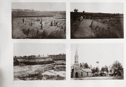 Four scenes depicting Petersburg, Virginia, American Civil War, 1861-1865.